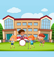 student music band at school vector image vector image