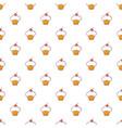 sweet cupcake pattern seamless vector image vector image