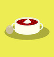 sweet dessert in flat design bread-soup with vector image