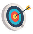 target with an arrow flat icon concept market