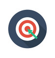 target with arrow on tripod flat icon smart goal vector image