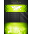 tech background with world map vector image vector image