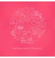 Thin Line E-commerce Business Money Icons Set vector image