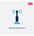 two color wireless connectivity icon from vector image