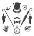 Vintage gentlemen symbols vector image
