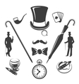 Vintage gentlemen symbols vector image vector image