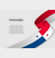 waving flag template for independence day vector image vector image