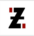 z izi zi initials letter company logo and icon vector image vector image