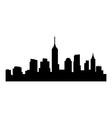new york skyline vector image