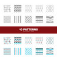 10 seamless background pattern ilustrations vector image