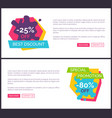 -25 best discount web pages vector image