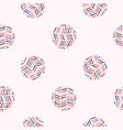 abstract polka dot circle seamless pattern vector image vector image