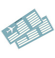 airticket icon vector image vector image