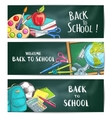 Back to school welcome banner backgrounds vector image vector image