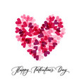 background with hearts and happy valentine s day vector image vector image