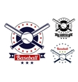 Baseball sport team badges vector image vector image