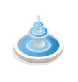 beautiful three-level round fountain a zone of vector image