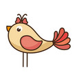 bird lovely isolated vector image