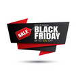 black friday sale and red banner template vector image vector image