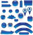 blue metal glass kolekcija bre vector image vector image