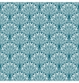 Blue repeating geometric floral pattern vector image