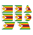 buttons with flag of Zimbabwe vector image vector image