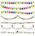 christmas lights on white background vector image vector image