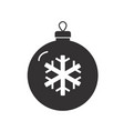 christmas tree ball icon on white background flat vector image vector image
