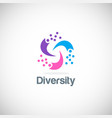 circle colorful diversity logo vector image vector image