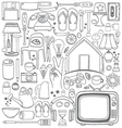 Doodle household drawing vector image vector image