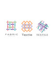 fabric logo design set fashion designer badges vector image vector image