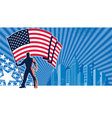 Flag Bearer USA Background vector image vector image