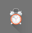 flat style alarm clock icon vector image