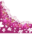 floral background pattern with flowers vector image vector image
