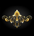 frame scroll with fleur de lis vector image