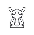 funny zebra line icon concept funny zebra vector image