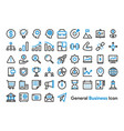 general business and finance icon set vector image vector image