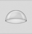 glass dome isolated on transparent background vector image vector image
