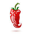 glossy red pepper vector image vector image