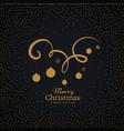 hanging christmas balls on swirl decoration vector image