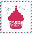 happy birthday invitation greeting card vector image vector image