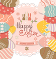 Happy easter cards with Easter bunnies and Easter vector image vector image