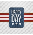 Happy Independence Day patriotic Tag vector image vector image