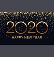 happy new 2020 year elegant gold text vector image