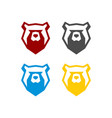 head bear animal logo template vector image vector image