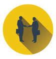 Icon of Meeting businessmen vector image vector image