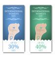 international womens day discount flyer brochure vector image vector image