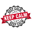 keep calm stamp sign seal vector image