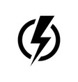 lightning bolt icon electric power symbol vector image
