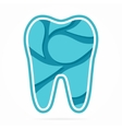 Logo combination of water drop and tooth vector image vector image